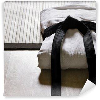 Vinylová Fototapeta Judo gi s černým páskem