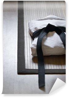 Vinylová Fototapeta Judo pes na Bamboo Koberec