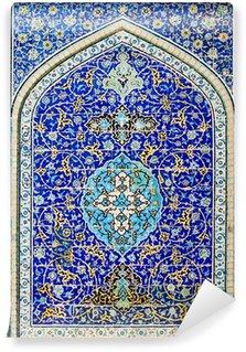 Vinylová Fototapeta Kachlová pozadí, orientální ornamenty z Isfahánu mešity, Írán