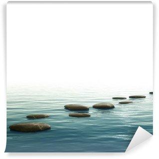 Fototapeta Winylowa Kamienie krok w tle