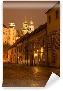 Vinylová Fototapeta Kanonicza ulice na Starém Městě a hradu Wawel v Krakově