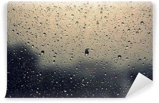 Vinylová Fototapeta Kapky deště na okna