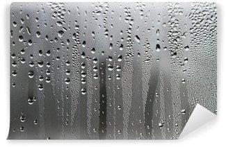 Vinylová Fototapeta Kapky vody na povrchu skla