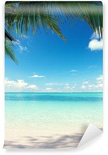 Fototapeta Winylowa Karaiby morze i palmy kokosowe