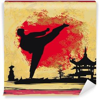 Vinylová Fototapeta Karate Grunge pozadí