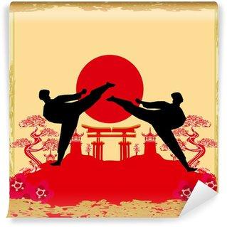 Vinylová Fototapeta Karate povolání - Grunge pozadí