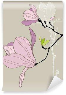 Vinylová Fototapeta Karta se stylizovanými Magnolia