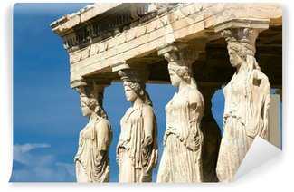 Vinylová Fototapeta Karyatida sochy, Akropolis v Aténách, Řecko