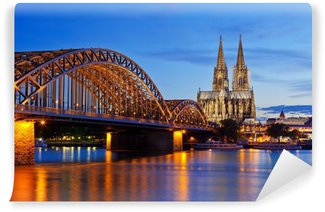 Fototapeta Winylowa Katedra w Kolonii i Hohenzollern Bridge