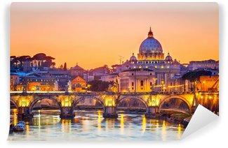 Vinylová Fototapeta Katedrála Svatého Petra v noci, Řím