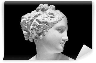 Vinylová Fototapeta Klasická bílá busta řecké bohyně izolované na černém