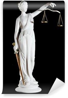 Vinylová Fototapeta Klasická bílá mramorová socha Themis s mečem a stupnice