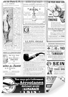 Vinylová Fototapeta Klasická reklama circa 1913