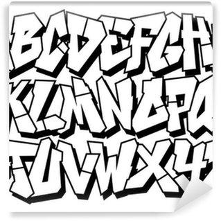Vinylová Fototapeta Klasický typ street art graffiti písmo. Vektorové abeceda