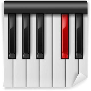 Vinylová Fototapeta Klávesnice klavíru