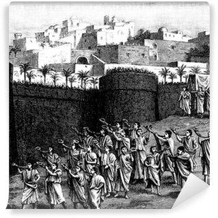 Vinylová Fototapeta Klesající zdi Jericha - biblický výjev