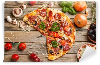 Vinylová Fototapeta Klobása pizza