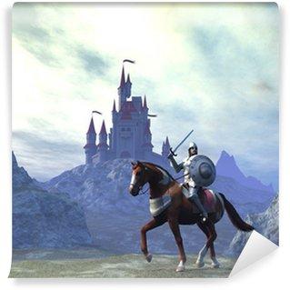 Vinylová Fototapeta Knight and Castle