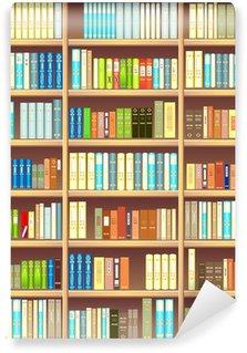 Vinylová Fototapeta Knihovna plná různých barevných knih