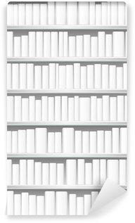 Vinylová Fototapeta Knihovna s bílými knihami