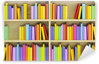 Vinylová Fototapeta Knihovna s pestrými knih