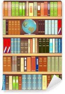 Vinylová Fototapeta Knihovna s zeměkoule a knihy
