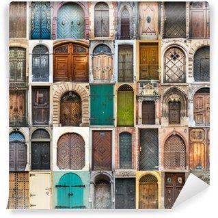 Vinylová Fototapeta Koláž fotky dveří