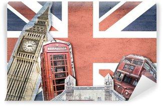 Vinylová Fototapeta Koláž London Union Jack