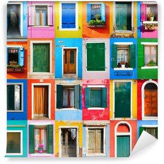 Vinylová Fototapeta Koláž von und Türen Fenstern aus Burano