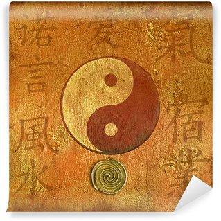 Vinylová Fototapeta Koláž yin yang