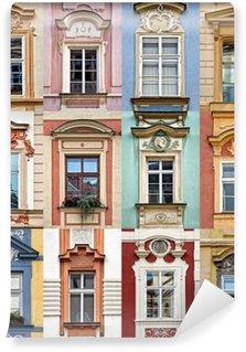 Vinylová Fototapeta Koláž z barevných oken Praha, Česká republika