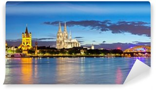 Vinylová Fototapeta Kolín nad Rýnem panorama města, Německo