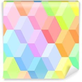 Fototapeta Winylowa Kolorowe abstrakcyjne geometryczne szwu wzór, wektor