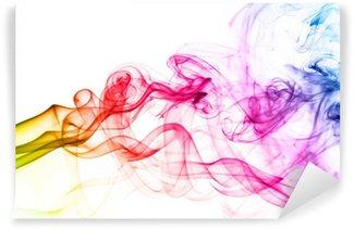 Fototapeta Winylowa Kolorowe chmury dymu z bliska.