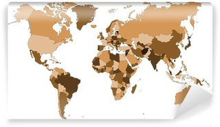 Fototapeta Winylowa Kolorowe mapy świata