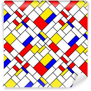 Fototapeta Winylowa Kolorowe przekątnej Mondrian styl geometryczny wzór bez szwu