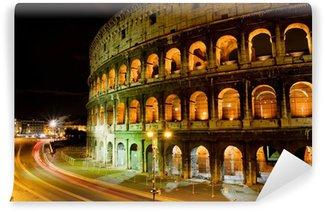 Vinylová Fototapeta Koloseum v noci, Řím Itálie