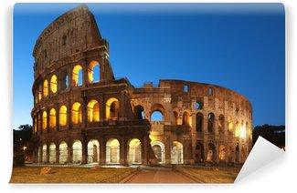 Vinylová Fototapeta Koloseum v noci, v Římě - Itálie