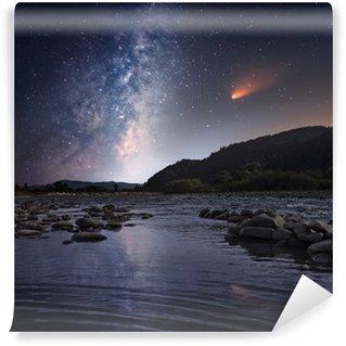 Vinylová Fototapeta Kometa přes noc řeku