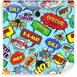 Vinylová Fototapeta Komiksové bubliny bezešvé prodej