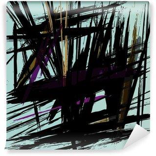 Fototapeta Winylowa Kompozycja abstrakcyjna tła z kresek
