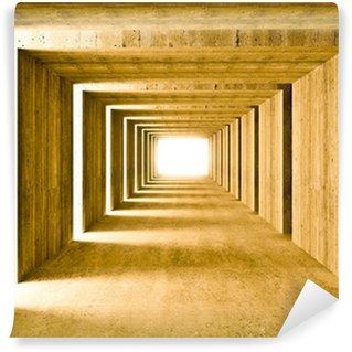 Vinylová Fototapeta Konkrétní tunel a boční světla