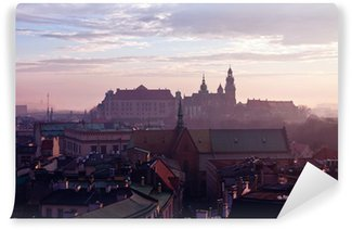 Vinylová Fototapeta Kopec s hradem Wawel v Krakově