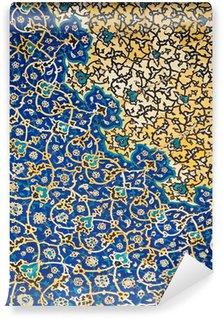 Fototapeta Winylowa Kopuła meczetu, orientalne ornamenty z Isfahan, Iran
