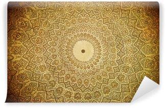 Fototapeta Winylowa Kopuła meczetu, orientalne ornamenty z Samarkanda, uzbekista