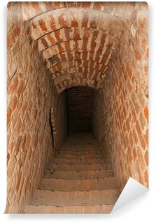 Vinylová Fototapeta Koridor do podsvětí středověkého hradu