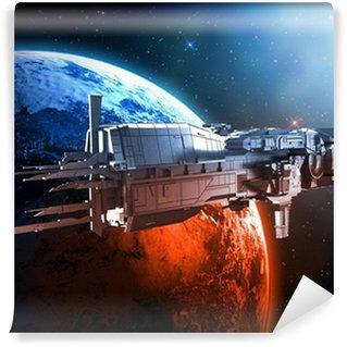 Vinylová Fototapeta Kosmická loď s planety země