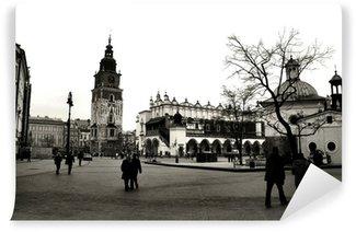 Vinylová Fototapeta Krakov v černé a bílé