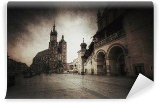 Vinylová Fototapeta Kraków Stare Miasto styl retro.