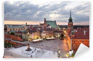 Vinylová Fototapeta Královský hrad náměstí ve Varšavě starého města, za soumraku. Polsko